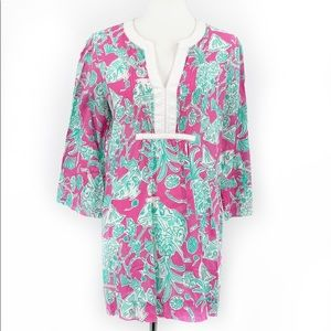 LILLY PULITZER Tropical Print Cover Up Tunic